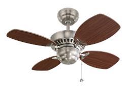 28' Colony II Fan - Brushed Steel