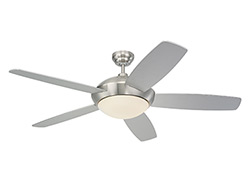 52' Sleek Fan - Brushed Steel