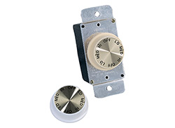 3 Speed Rotary Wall Control - Ivory and White
