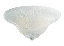 Leaf Bowl Light Kit - White Faux Alabaster