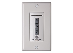 Hardwired remote WALL CONTROL ONLY. Fan reverse, speed, and downlight control.