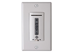 Hardwired remote WALL CONTROL ONLY. Fan reverse, speed, and uplight/downlight control.