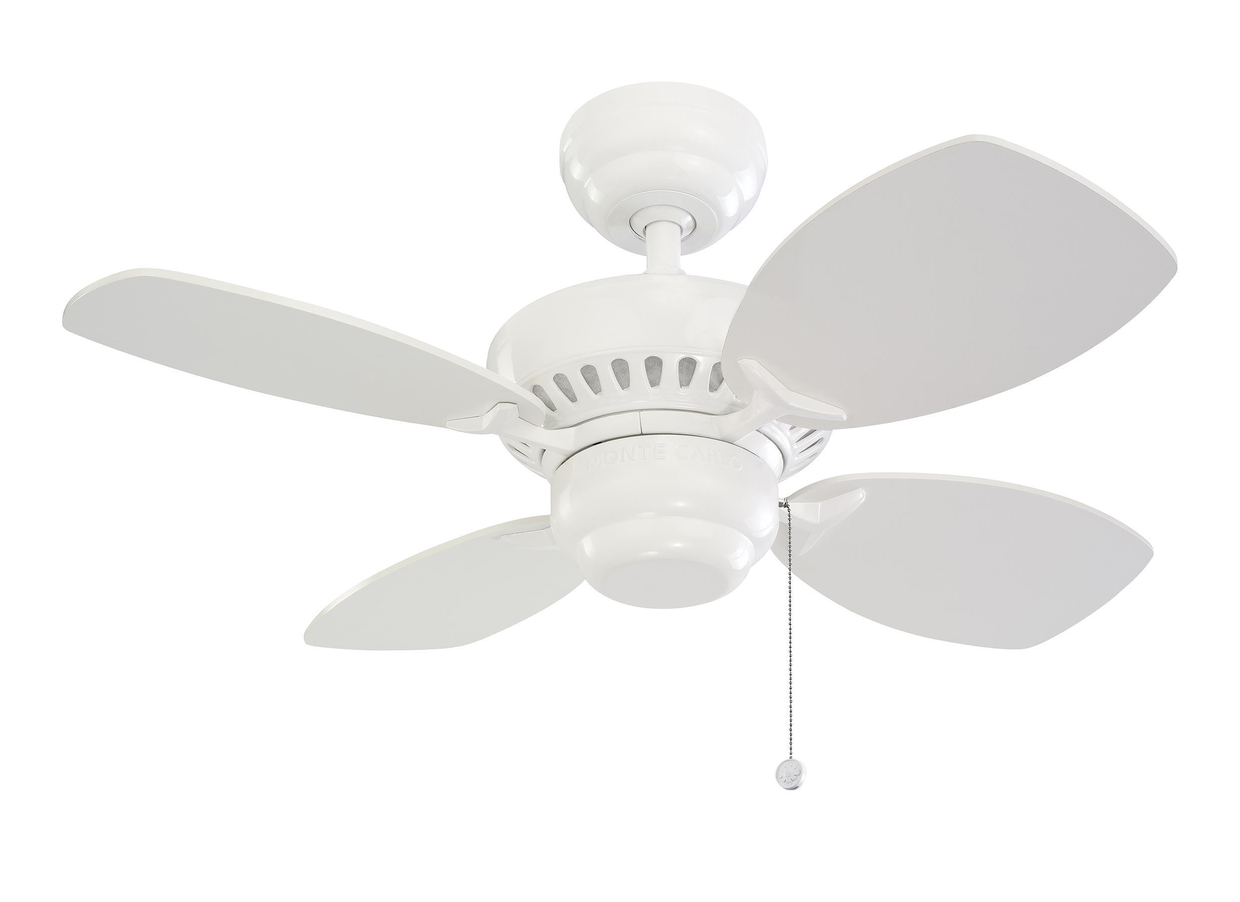 """4CO28WH 28"""" Colony II Fan White White"""