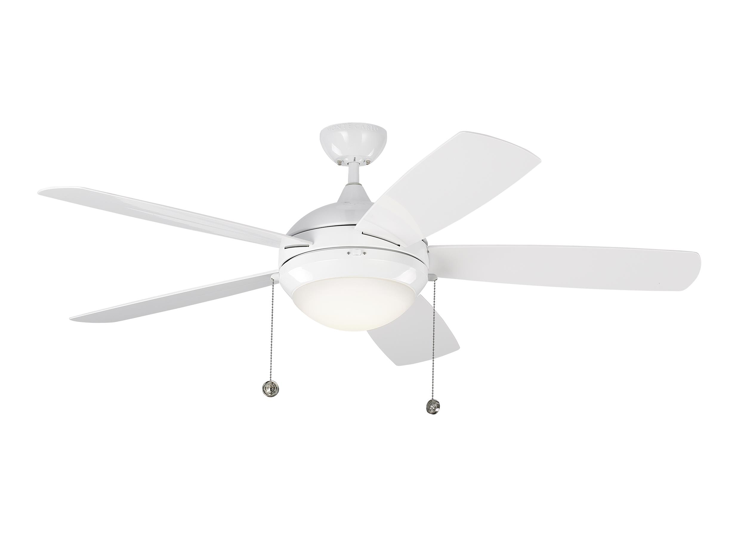 White ceiling fans by the monte carlo fan company 52 discus outdoor fan white aloadofball Choice Image