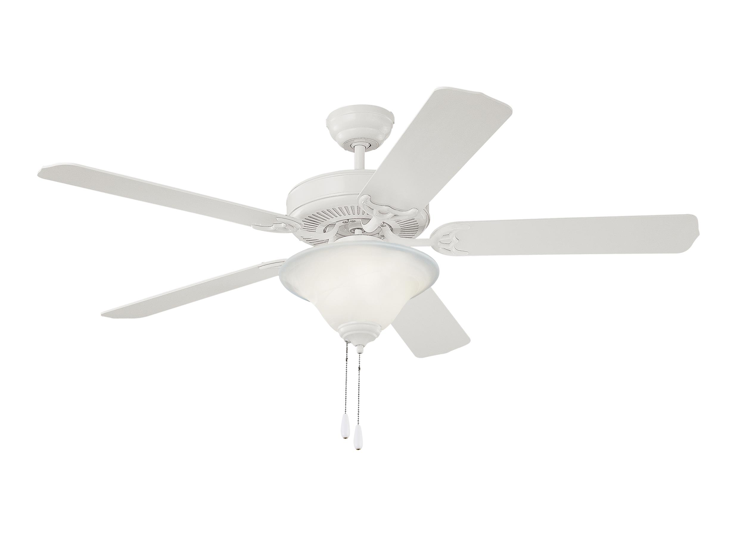 """5HS52WHD L 52"""" Homeowners Deluxe Fan White White"""