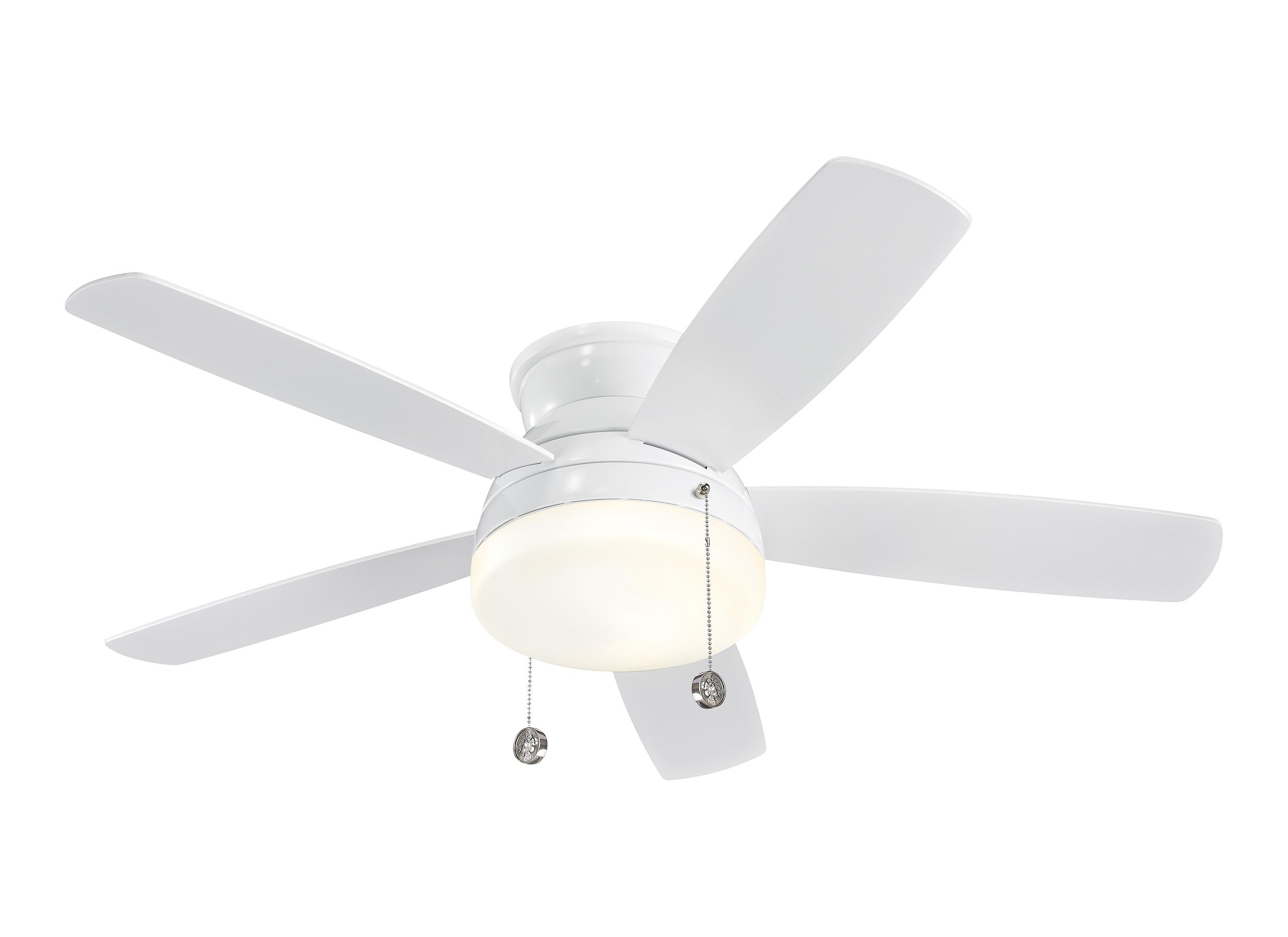 "5TV52WHD 52"" Traverse Semi Flush Fan White White"