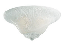 Leaf Bowl Light Kit - White Faux Alabaster