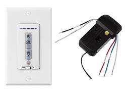 Hardwired wall remote control/receiver. Fan speed and downlight control. (non-reversing)