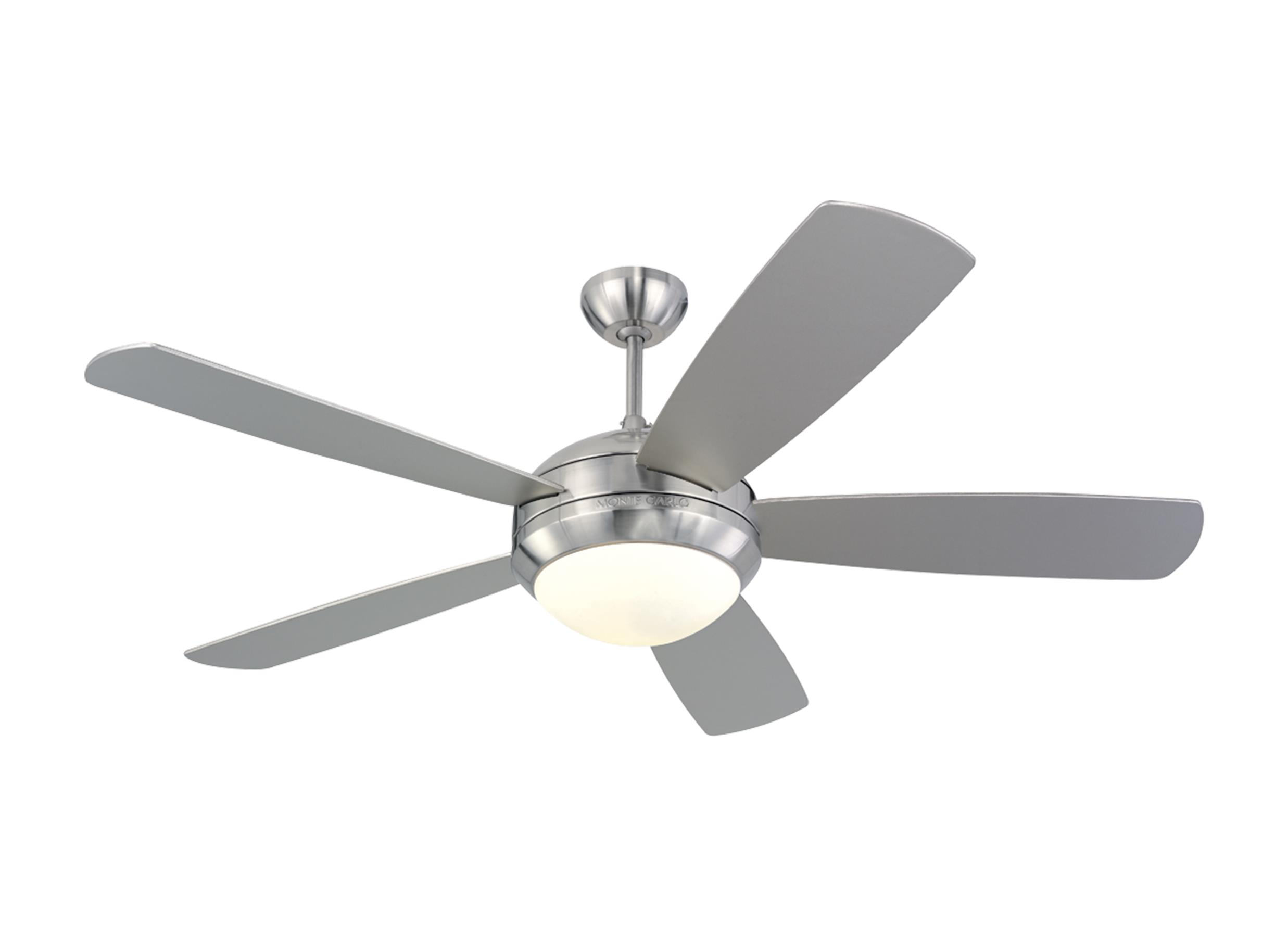 "5DI52BSD L 52"" Discus Fan Brushed Steel Brushed Steel"