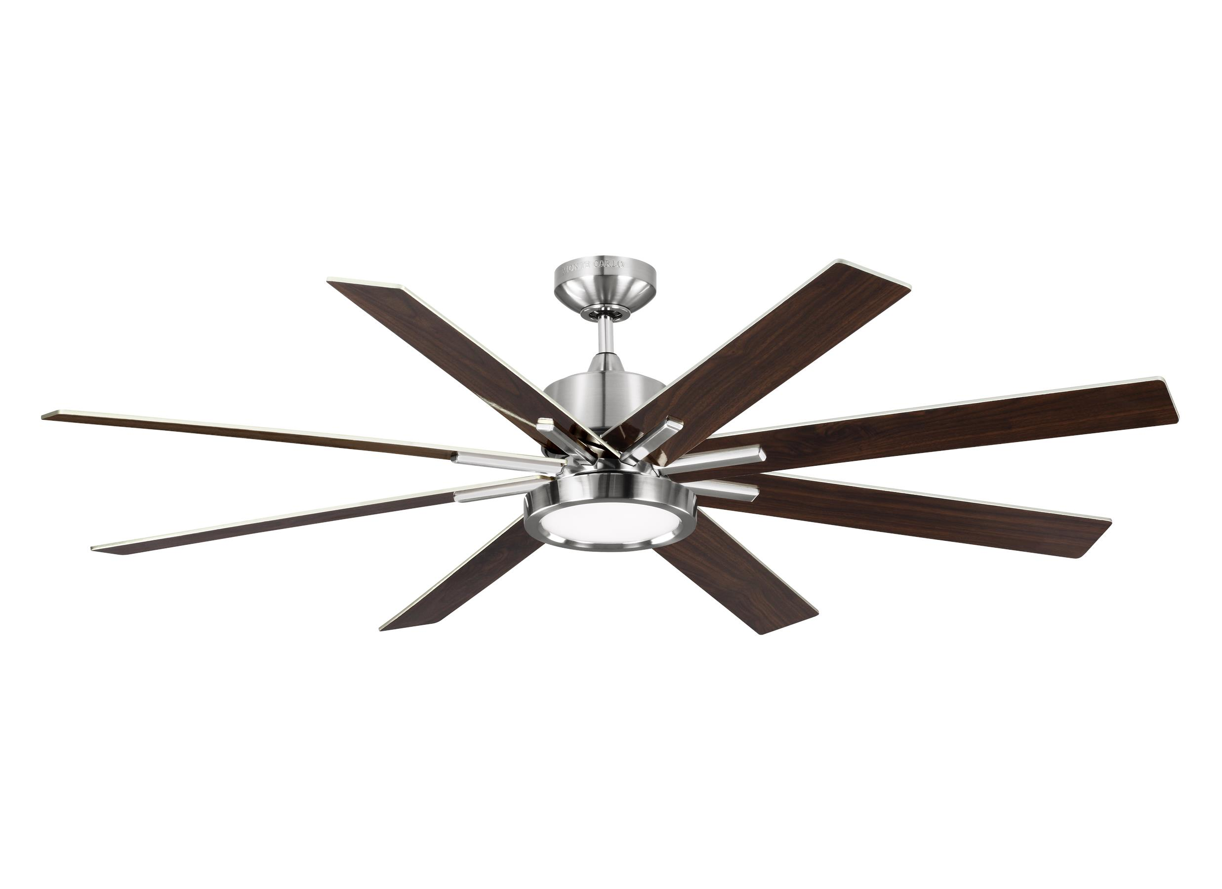 Silver nickel chrome ceiling fans by the monte carlo fan company 8eedr60bsd mozeypictures Gallery