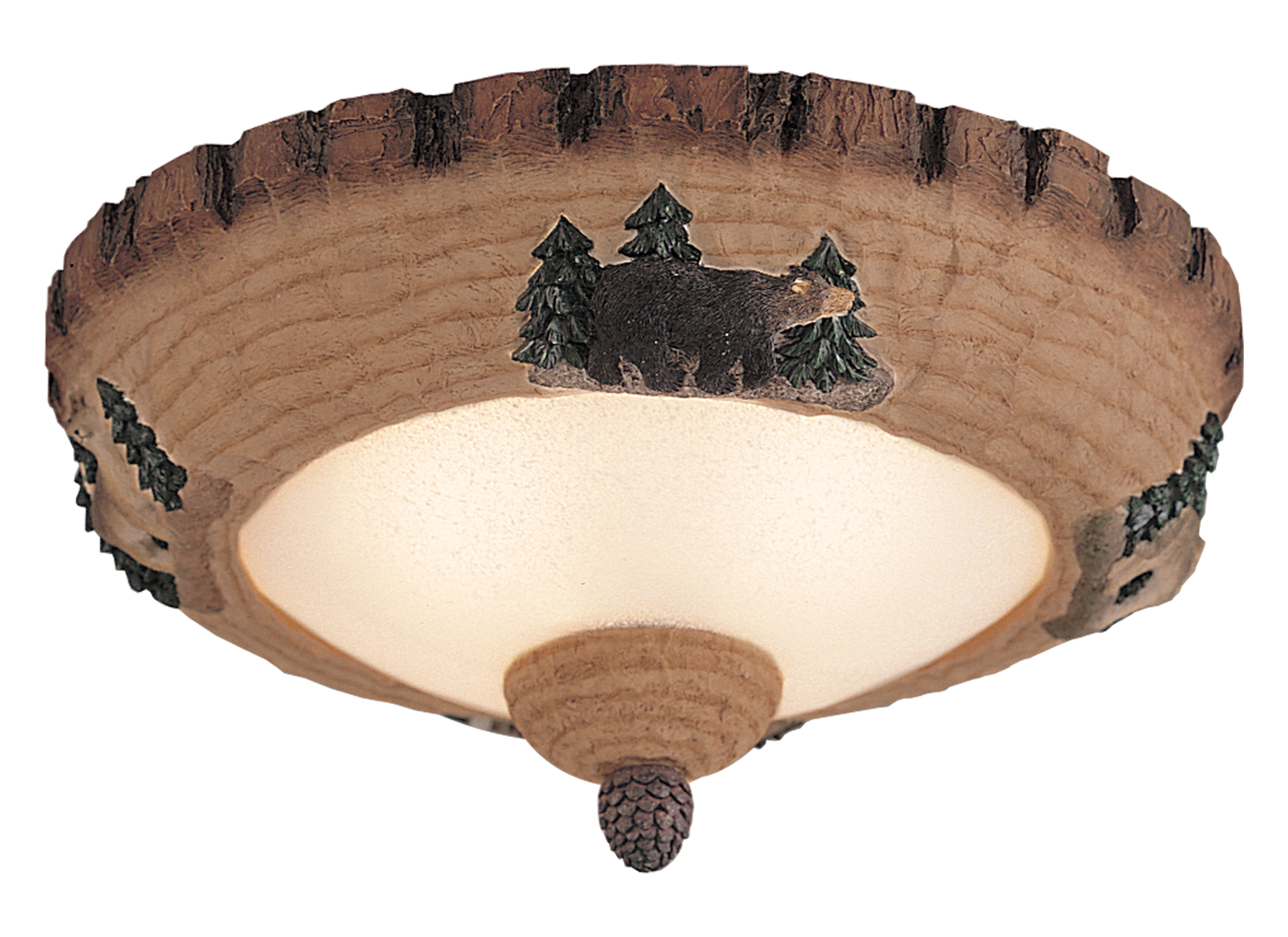 Mc102 llight kit wilderness lodge pine bowlweathered iron loading zoom aloadofball Gallery